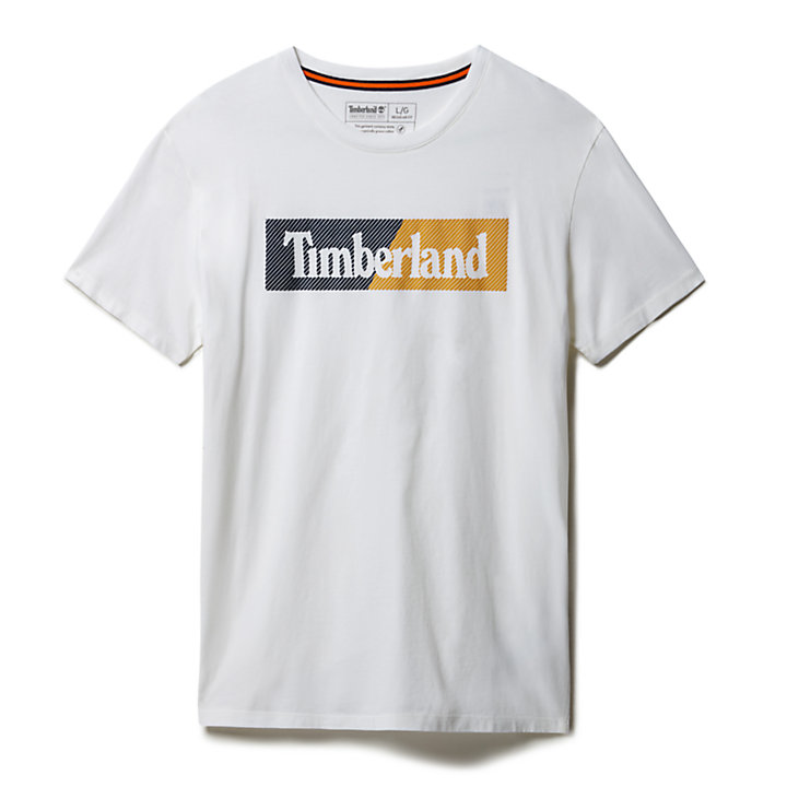 Kennebec River Logo T-shirt for Men in White-