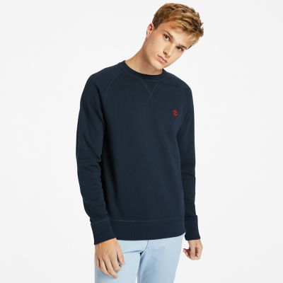 Exeter+River+sweatshirt+voor+heren+in+marineblauw