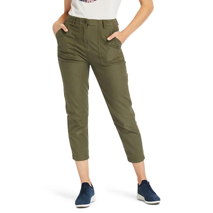 Utility Trousers for Women in Dark Green-
