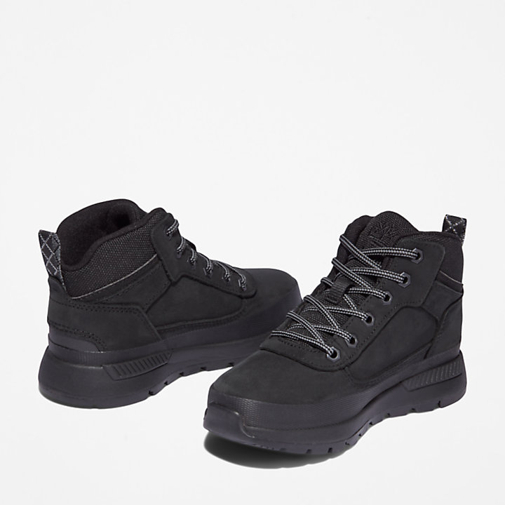 Field Trekker Hiking Boot for Youth in Black-