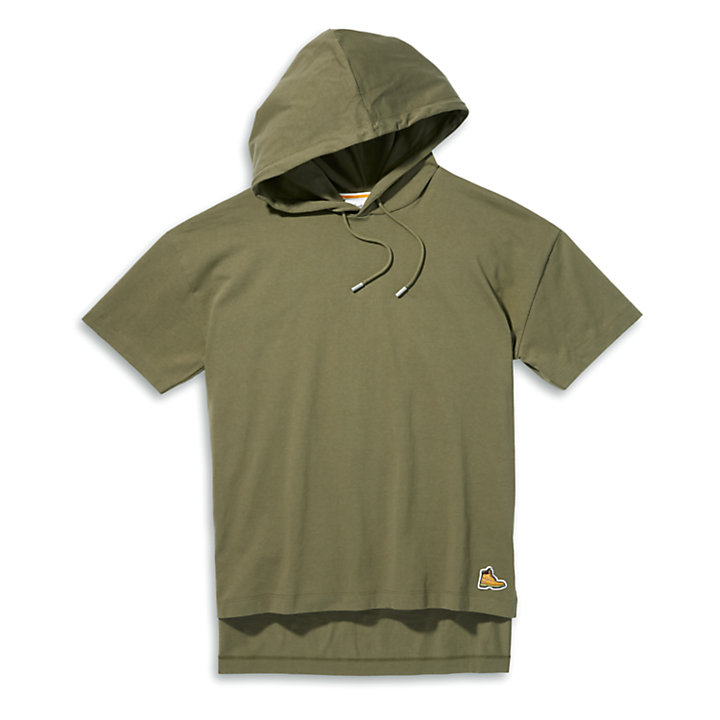 Boot-Logo Hoodie T-Shirt for Women in Dark Green-