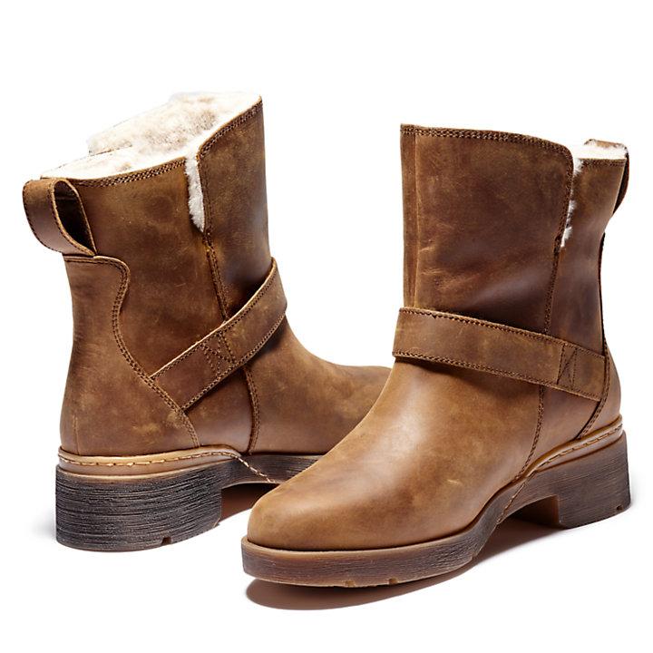 Graceyn Biker Boot for Women in Brown-