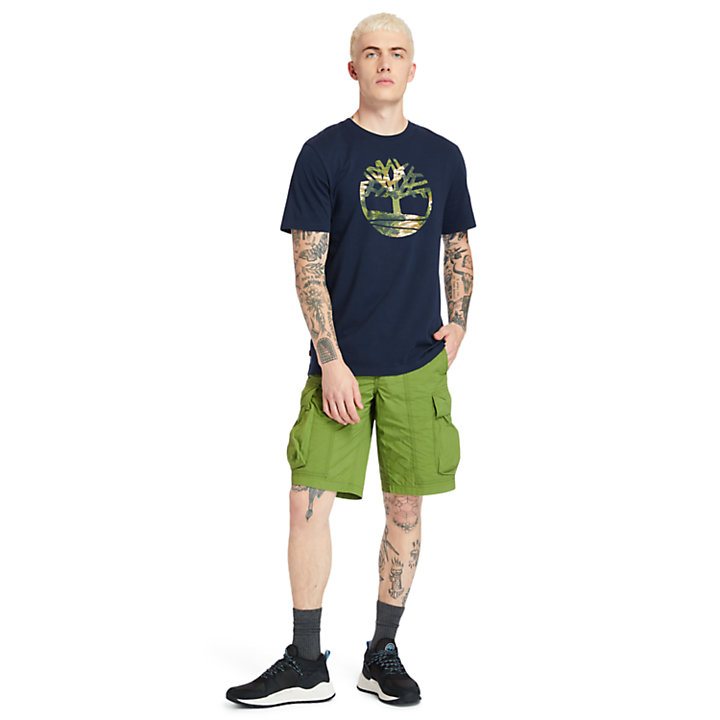 T-shirt da Uomo Kennebec River in blu marino-