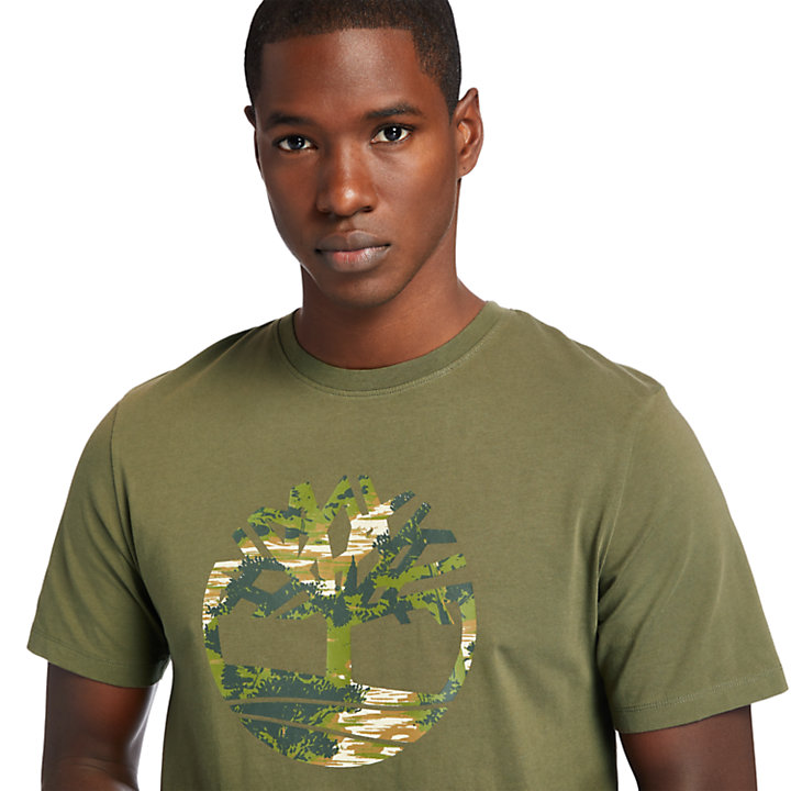 Kennebec River T-Shirt for Men in Dark Green-