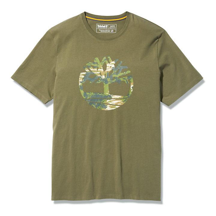 T-shirt Kennebec River pour homme en vert foncé-