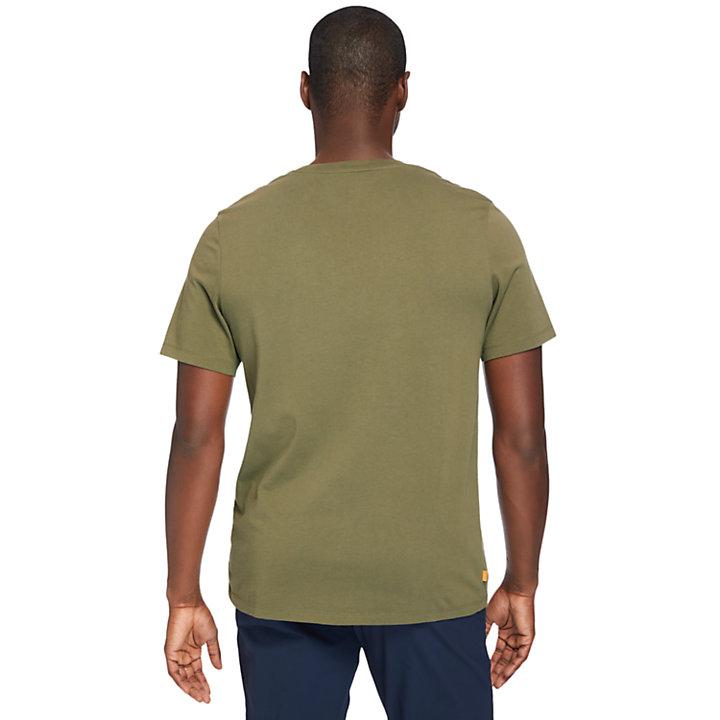Kennebec River Logo T-Shirt for Men in Dark Green-