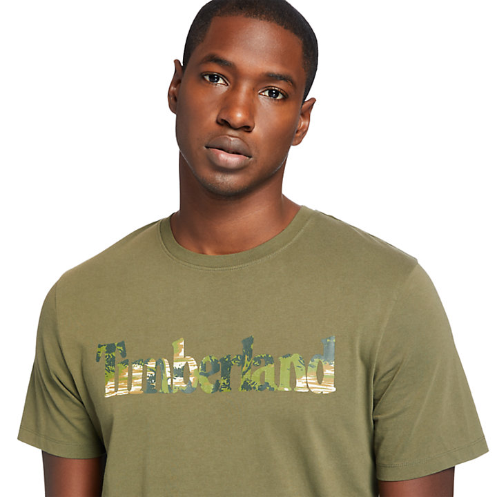T-shirt da Uomo con Logo Kennebec River in verde scuro-