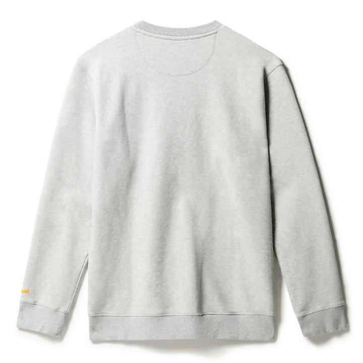 Boot-Logo Crew Neck Sweatshirt for Men in Grey-