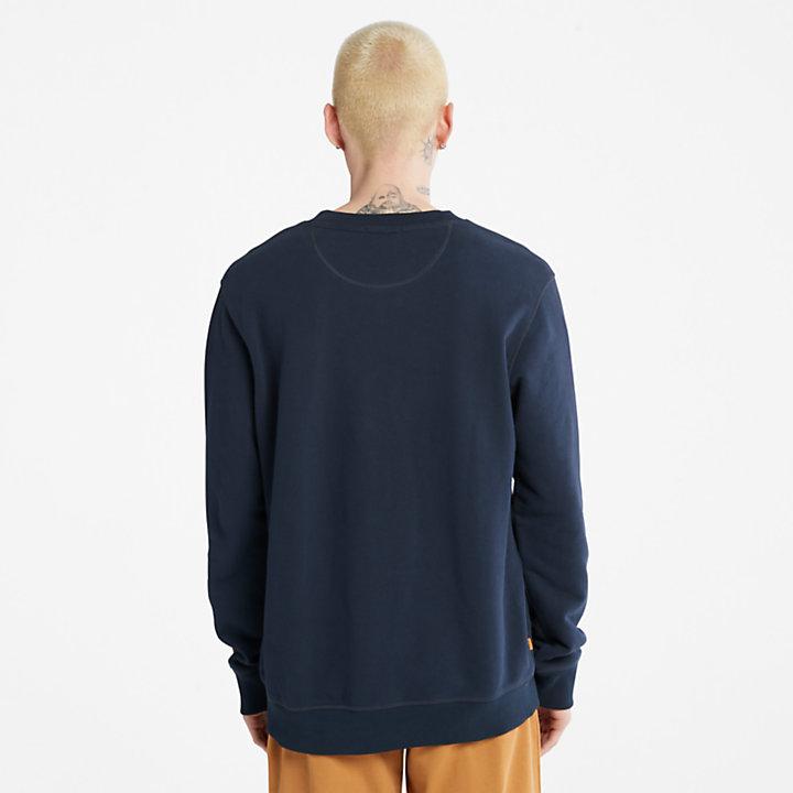 Boot Herren-Sweatshirt aus Bio-Baumwolle in Navyblau-