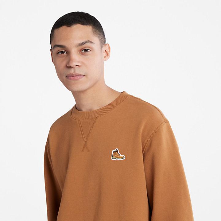 Boot Herren-Sweatshirt aus Bio-Baumwolle in Braun-