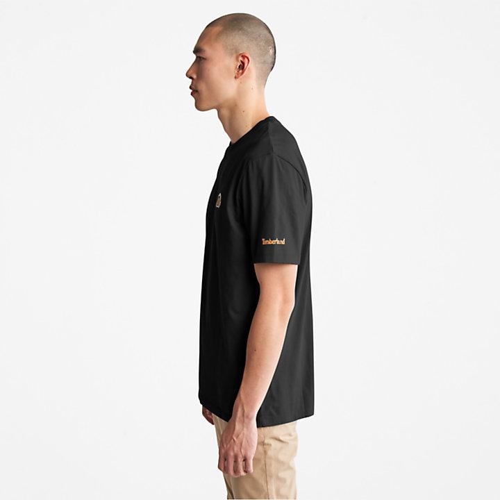 T-shirt à logo bottine pour homme en noir-