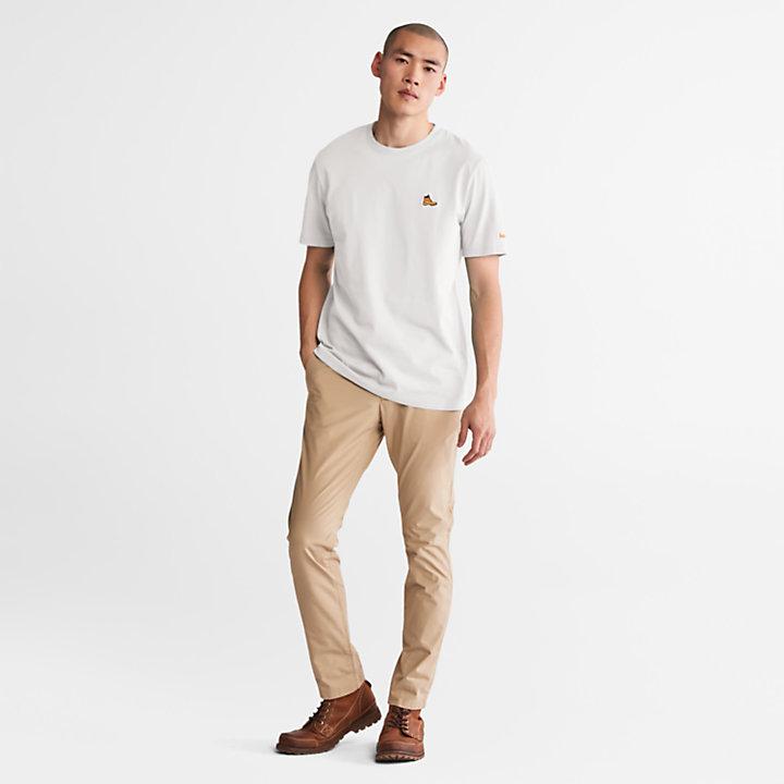 T-Shirt mit Stiefel-Logo für Herren in Weiß-
