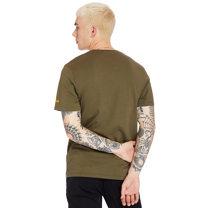 Boot-Logo T-Shirt for Men in Green-