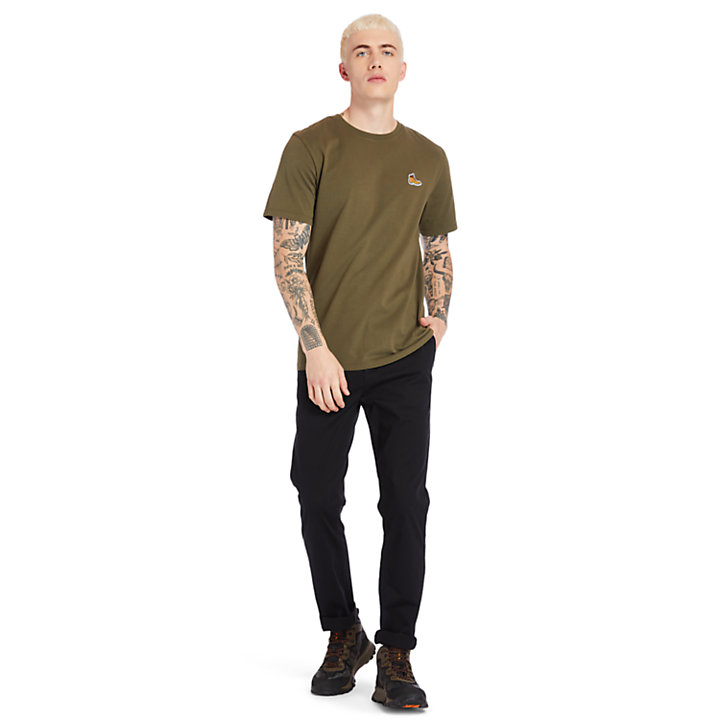 Boot Logo T-Shirt for Men in Green-