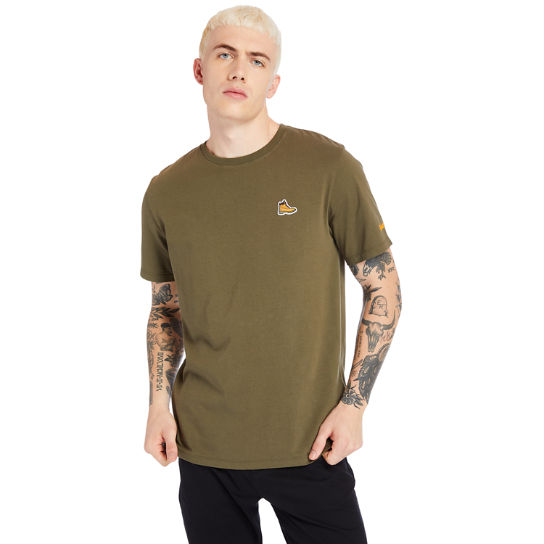 Boot Logo T-Shirt for Men in Green | Timberland