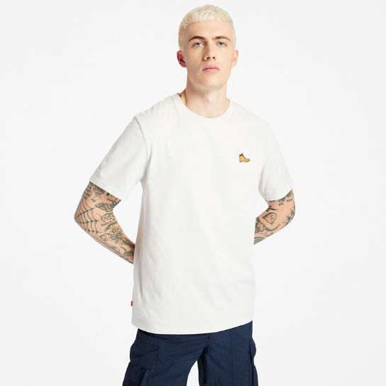Boot Logo T-Shirt for Men in White | Timberland
