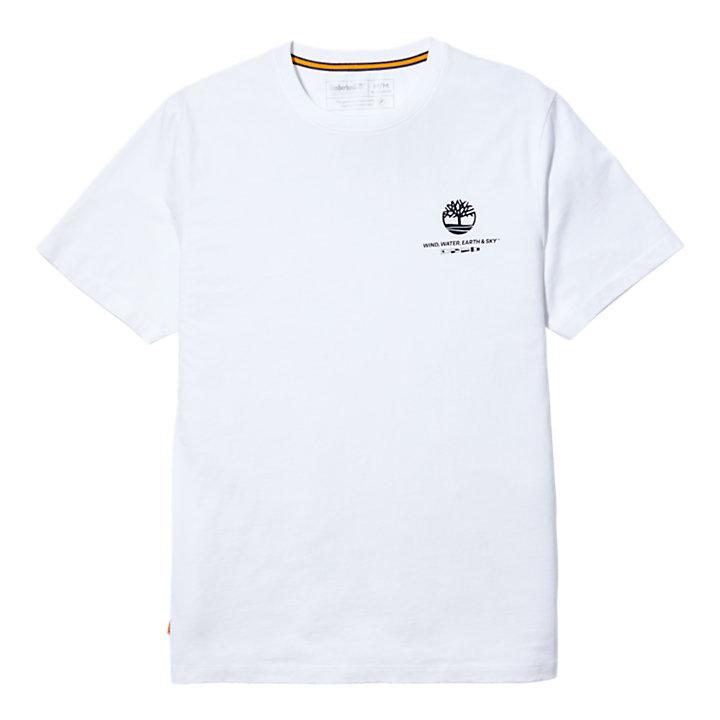 T-shirt da Uomo Coastal Cool in bianco-