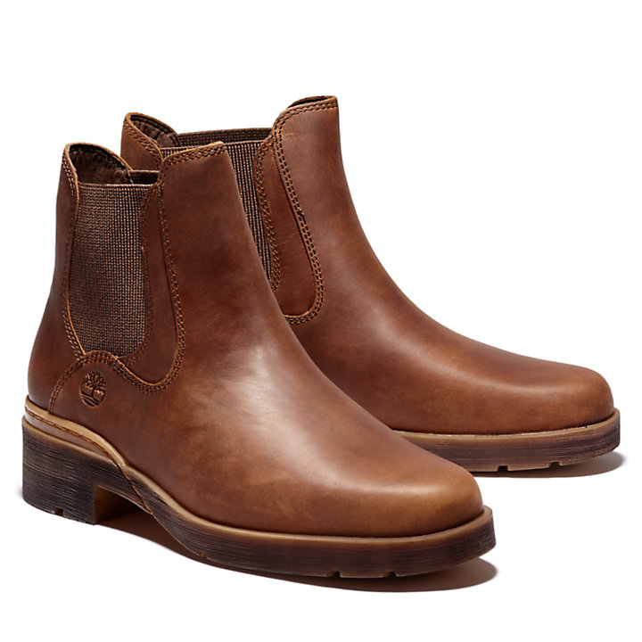 Graceyn Chelsea Boot for Women in Brown-