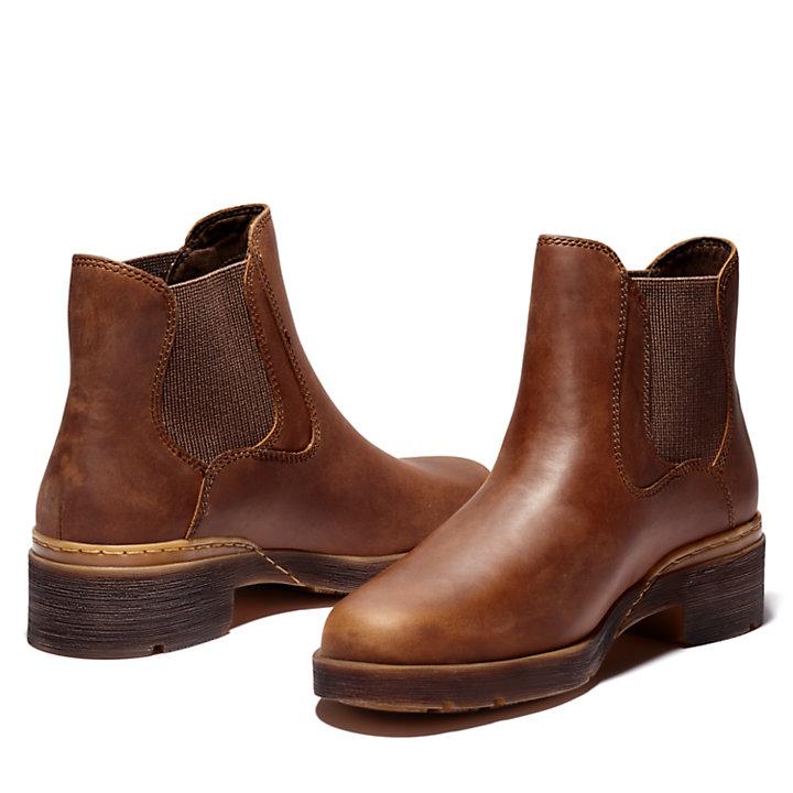 Graceyn Chelsea Boot for Women in Brown-