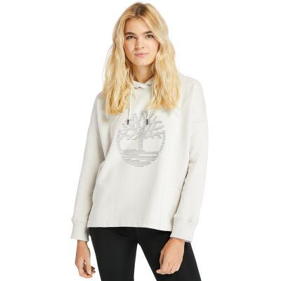 Reflective+Logo+Hoodie+for+Women+in+White