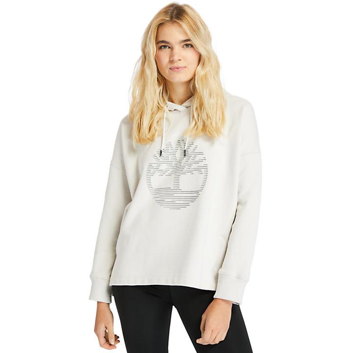 Sweat à capuche avec logo réfléchissant pour femme en blanc-