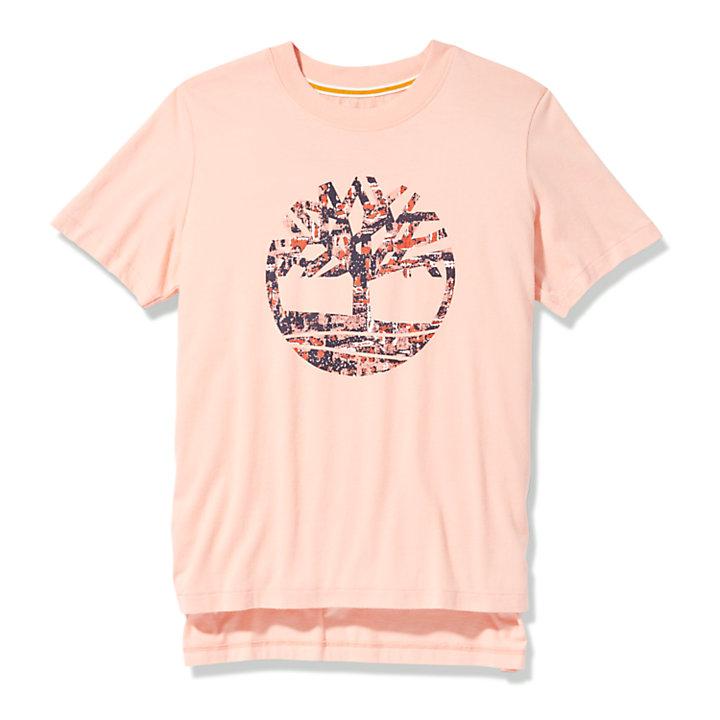 T-Shirt mit getüpfeltem Logo für Damen in Pink-