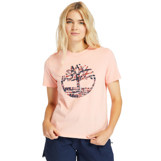Stippled-Logo T-Shirt for Women in Pink | Timberland