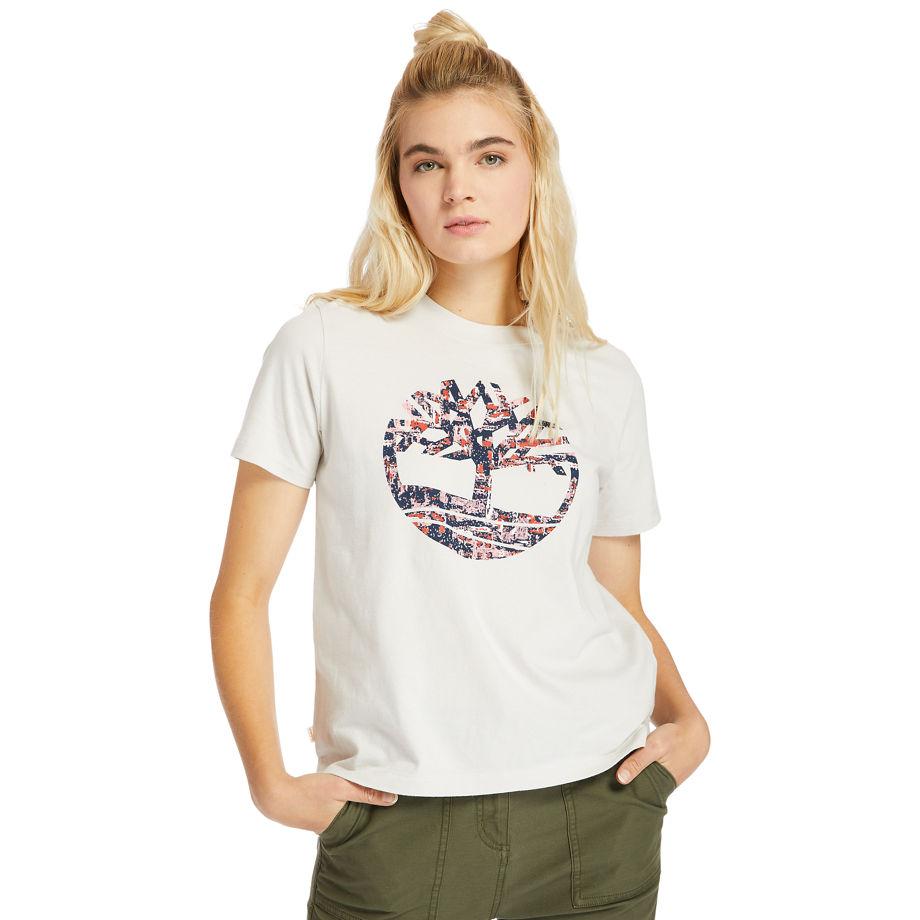T-shirt À Logo Piqué En , Taille XS - Timberland - Modalova