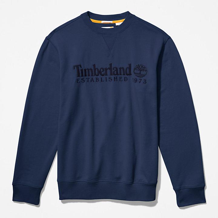 Outdoor Heritage Crewneck Sweatshirt for Men in Navy-