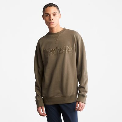Outdoor+Heritage+Crewneck+Sweatshirt+for+Men+in+Dark+Green