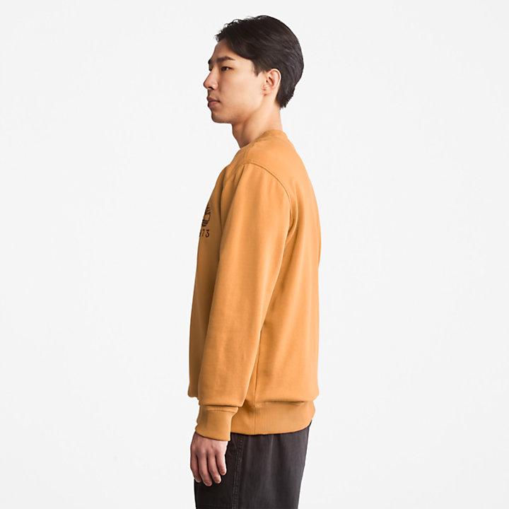 Outdoor Heritage Crewneck Sweatshirt for Men in Dark Yellow-