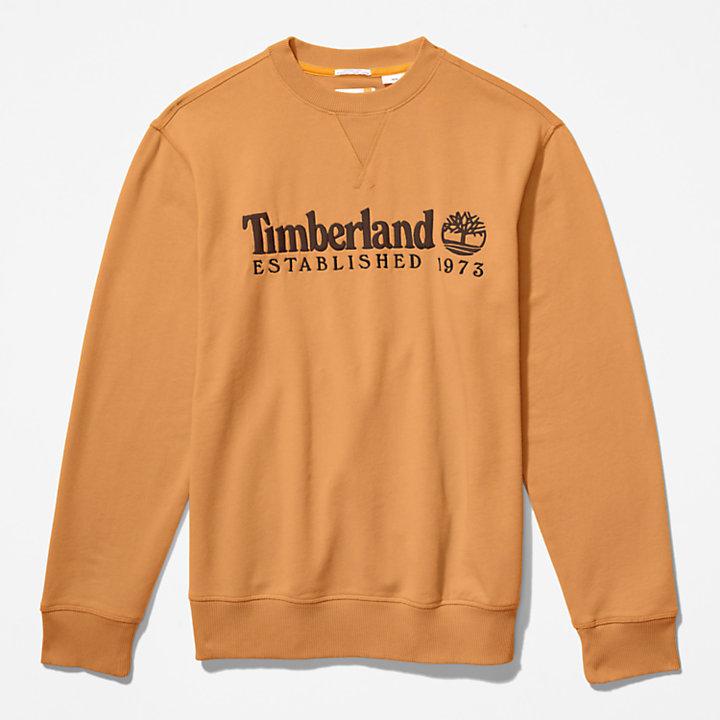 Outdoor Heritage Rundhals-Sweatshirt für Herren in Dunkelgelb-