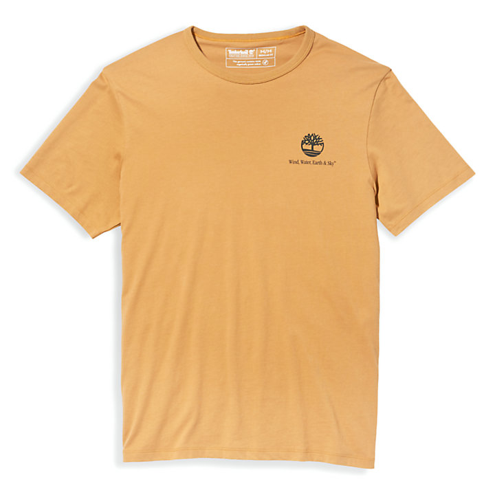 Archive-Print T-Shirt for Men in Yellow-