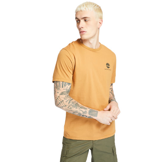 Archive-Print T-Shirt for Men in Yellow | Timberland