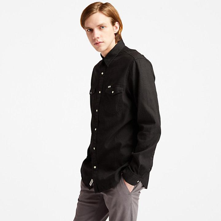 Mumford River Denim Shirt for Men in Black-