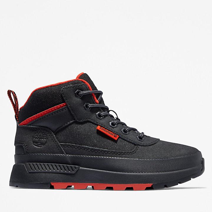 Chaussure de randonnée Field Trekker pour enfant en noir/rouge-