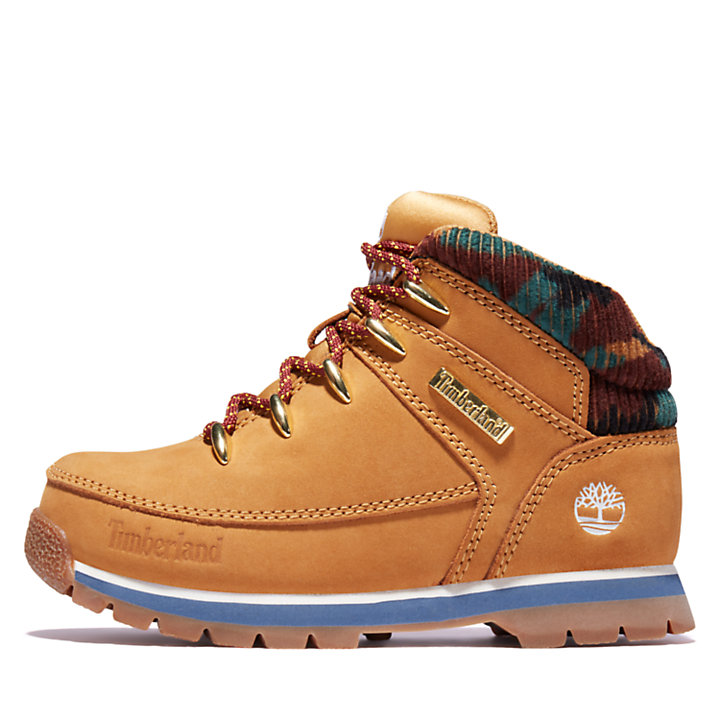 Euro Sprint Mid Hiker for Junior in Yellow/Camo-