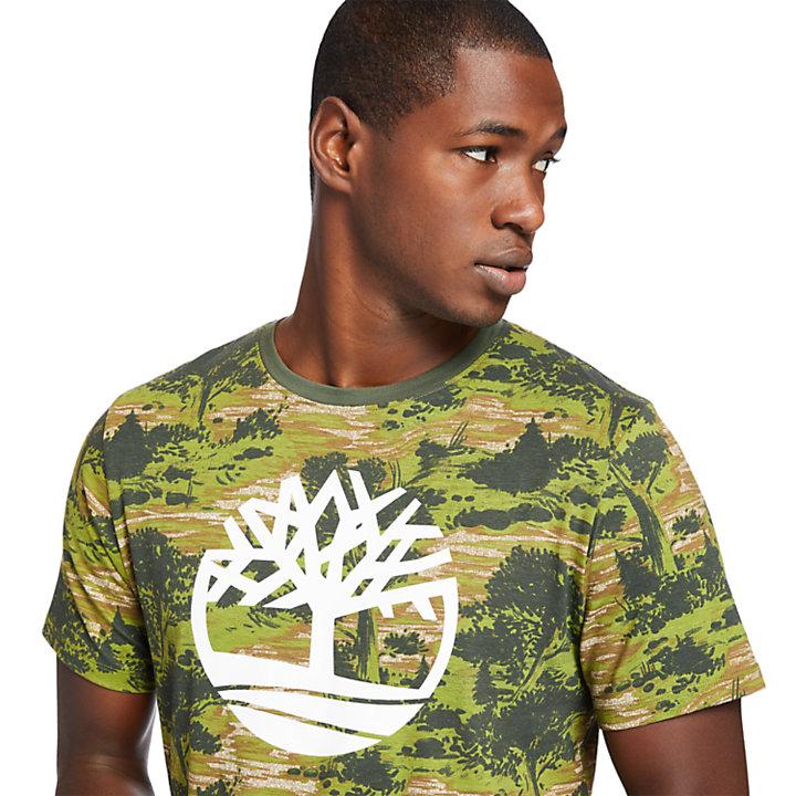 Field Trip Tree T-Shirt for Men in Green-