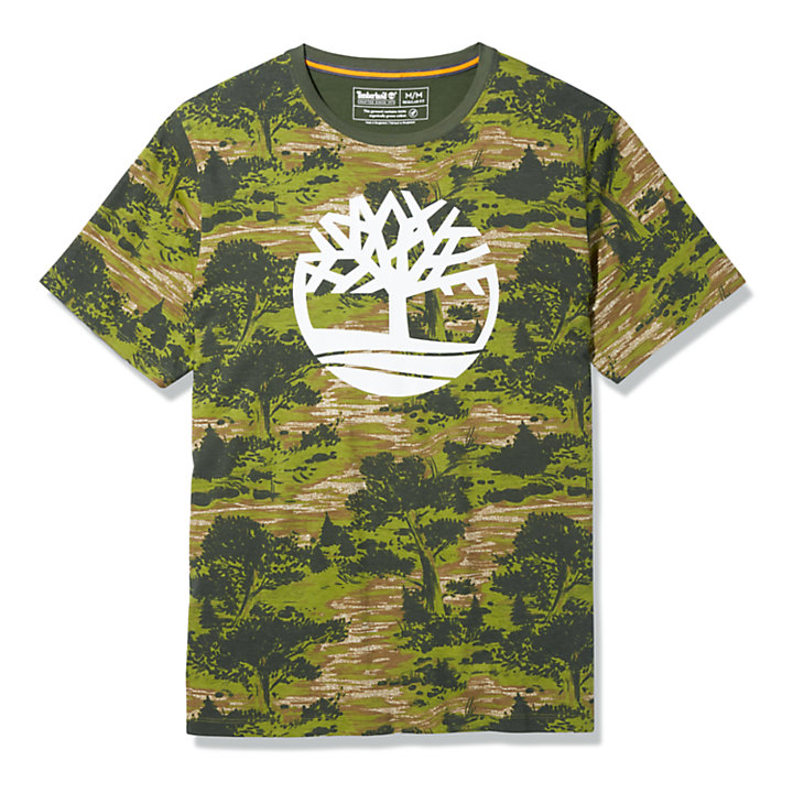Field Trip Tree T-Shirt for Men in Green-