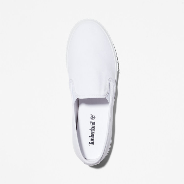 Sneaker Slip-on in tela da Donna Skyla Bay in bianco-
