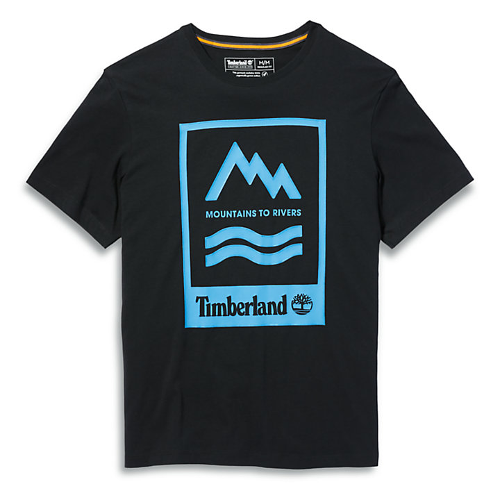 Mountain-to-River T-Shirt for Men in Black-