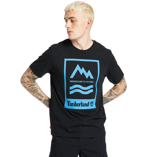 Mountain-to-River T-Shirt for Men in Black | Timberland