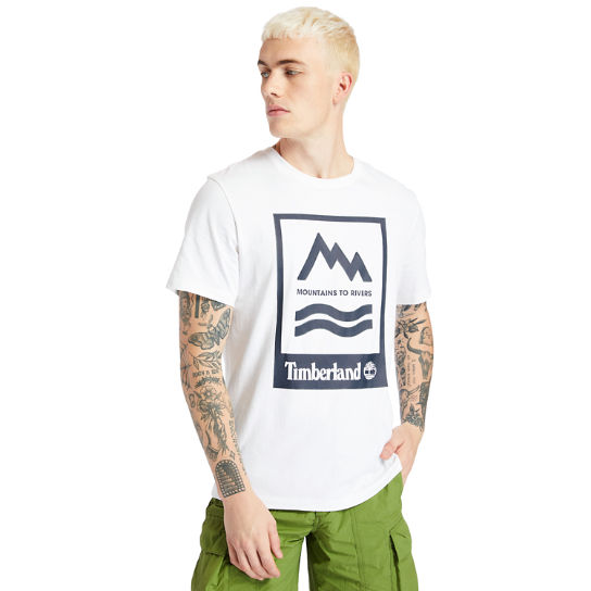 Mountain-to-River T-Shirt for Men in White | Timberland