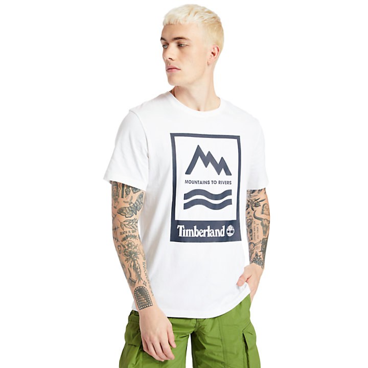 Mountain-to-River T-Shirt for Men in White-