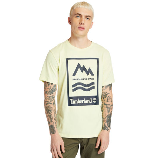 Mountain-to-River T-Shirt for Men in Light Yellow | Timberland