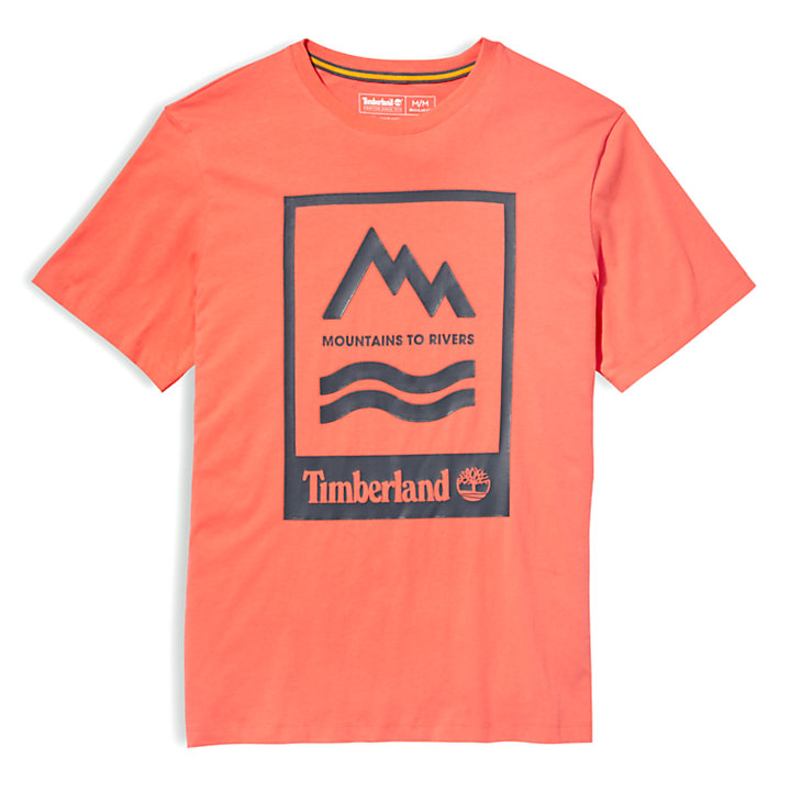 Mountain-to-River T-Shirt for Men in Red-