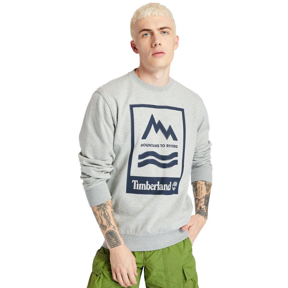Sweat-shirt Graphique À Motif Montagne Et Rivière En , Taille M - Timberland - Modalova