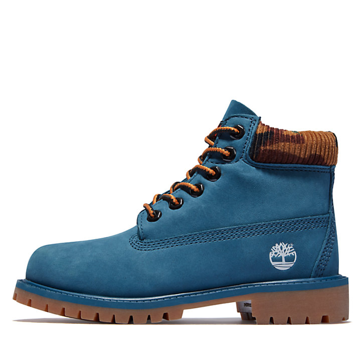 Timberland® Premium 6-Inch Waterproof Boots for Junior in Blue-