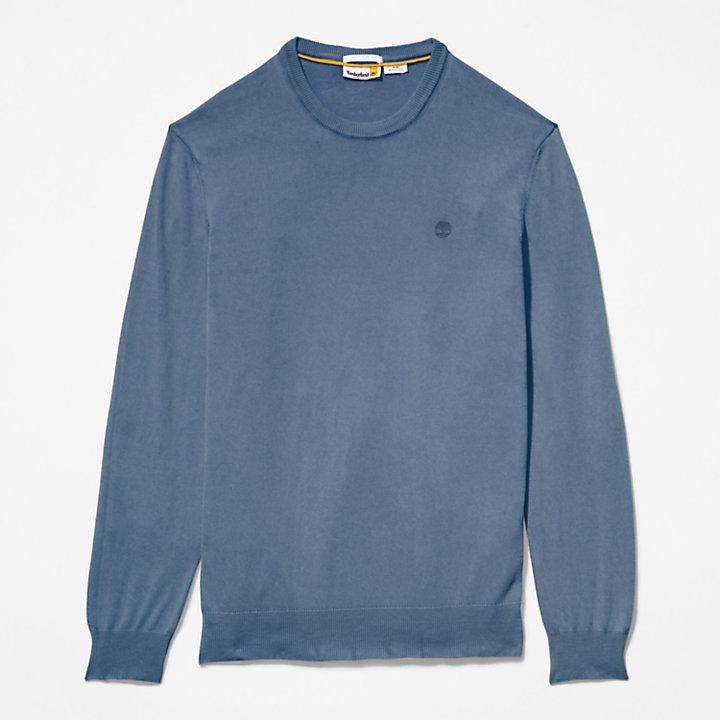 Garment-Dyed Sweatshirt voor heren in marineblauw-