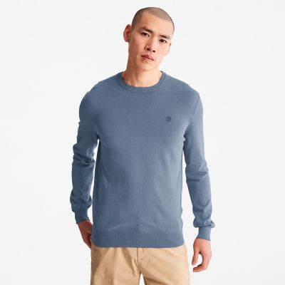 Garment-Dyed+Sweatshirt+for+Men+in+Navy
